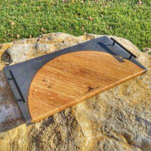 Wine Barrell Platter Black