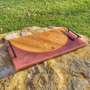 Wine Barrell Platter Rose